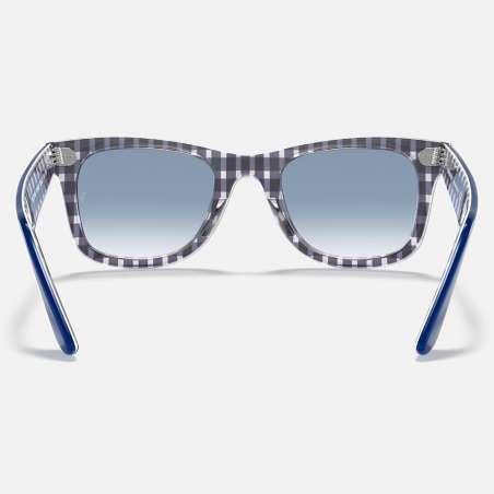 Original Wayfarer Color Mix Blue on Vichy Blue/White