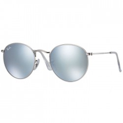 Ray Ban Round Metal Silver