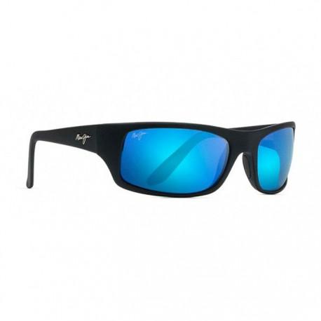 Maui jim Blue Peahi Noir Mat Caoutchouté - Lunettes de soleil Funoptic 0424463936cd