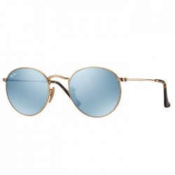 Ray Ban Round Flat Metal Or