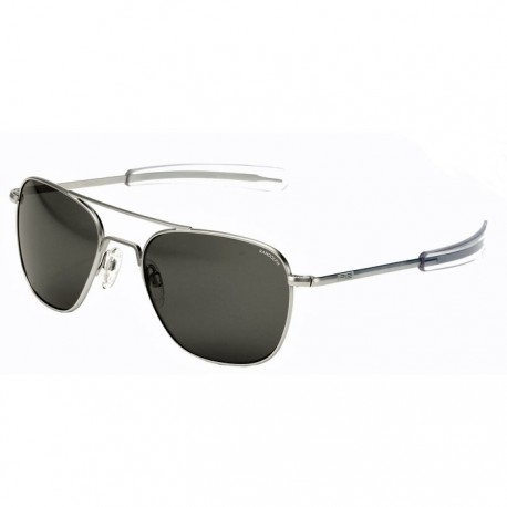 Aviator Matte Chrome Bayonet Gray - Lunettes de soleil Funoptic 0d9ddd285d47