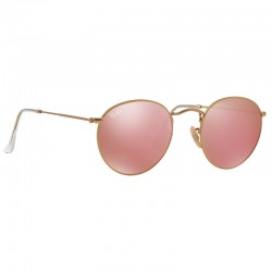 Ray Ban Round Metal Gold Flash Rose