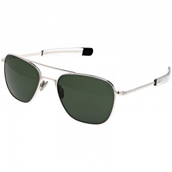 Aviator White Gold Bayonet Gray Polarisé
