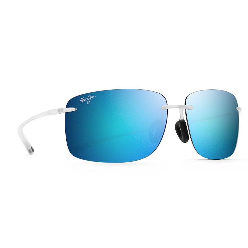 Maui Jim lunette de soleil Hema Crystal Matte Blue Hawaii Polarisée